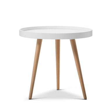 Bolo White Round Tray Side Table Bunnings Warehouse