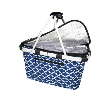 Sachi Insulated Carry Basket With Lid Moroccan Navy Bunnings Warehouse