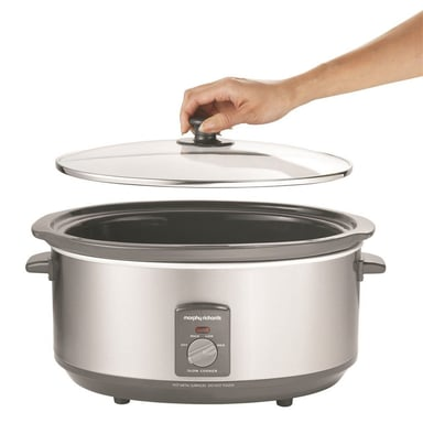 Morphy Richards 6 5l Electric Stainless Steel Slow Cooker W Non Stick Pan Pot And of course, we also offer plenty of to kitchen appliances, utensils and accessories including fryers, microwaves, toasters and kettles. morphy richards