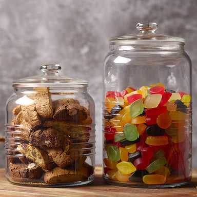 Old Fashioned Cookie Jar W Glass Lid 3l Bunnings Warehouse