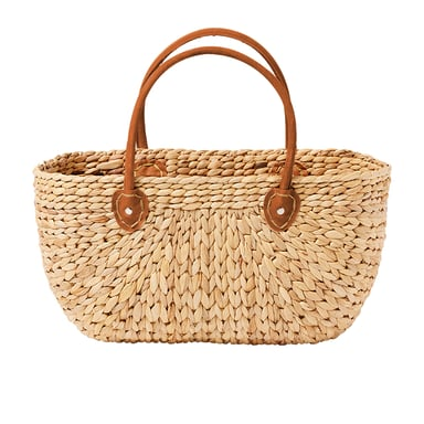 Salisbury Co Province Carry Basket W Suede Handles Large