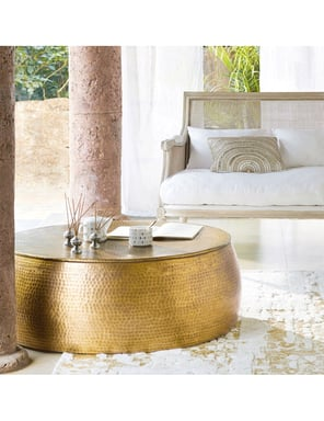 Brass Look Drum Coffee Table Bunnings Warehouse