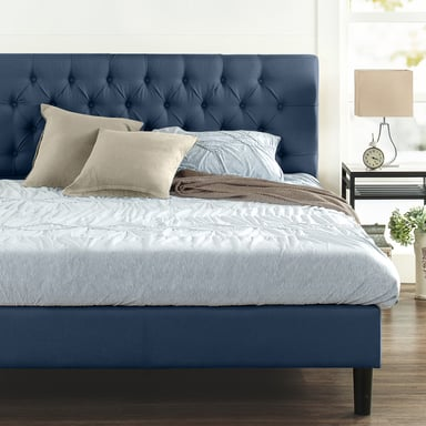 Zinus Misty Upholstered On Tufted, Zinus Misty Upholstered Modern Classic Tufted Platform Bed Queen