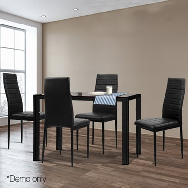 Tufted Chaise Lounge Chair, Artiss Astra Black 5 Piece Dining Table Chairs Set Bunnings Warehouse