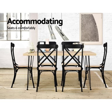 Artiss 4 Seater 100 X 65cm Rectangular Dining Table Bunnings Warehouse