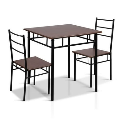 Artiss Black Dining Table And Chairs Set Bunnings Warehouse