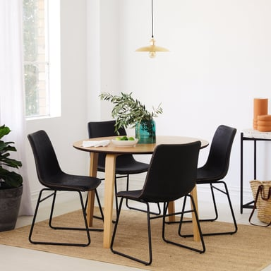The Bo Living Justin Set Of 2 Tan Dining Chairs Bunnings Warehouse