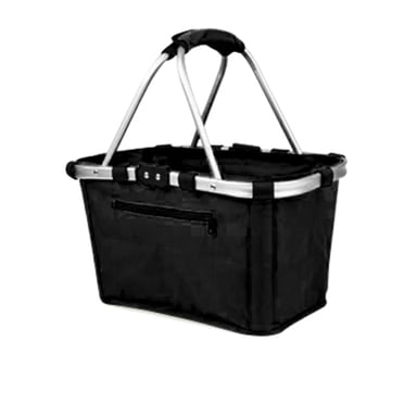 Shop Go Carry Basket Double Handle Black Bunnings Warehouse